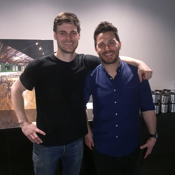 Chris Allen and Justin Moore performed at the Venue 901 opening. - MICHAEL DONAHUE