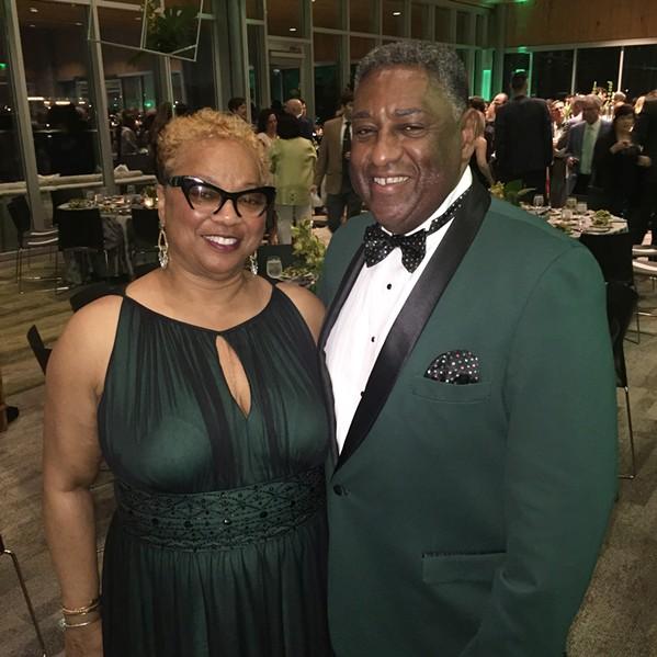 Jackie Dandridge and Lester Brown were at GreenShoe Gala. - MICHAEL DONAHUE