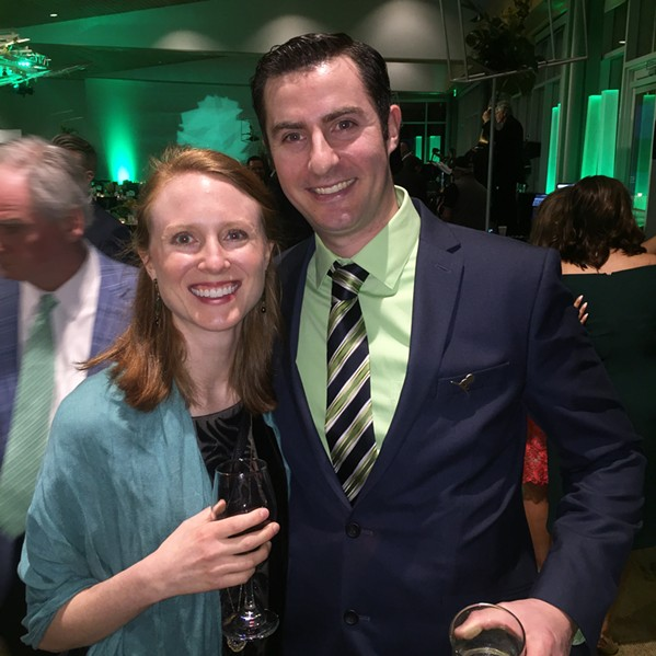 Hanna and Franck Oysel at GreenShoe Gala. - MICHAEL DONAHUE
