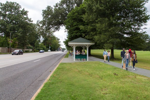 A rendering shows the east end of the new sidewalk. - AMANDA GILLVERY