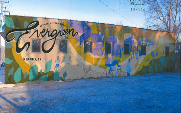 A rendering shows what the mural might look like on the building. - MEMPHIS COLLEGE OF ARTS