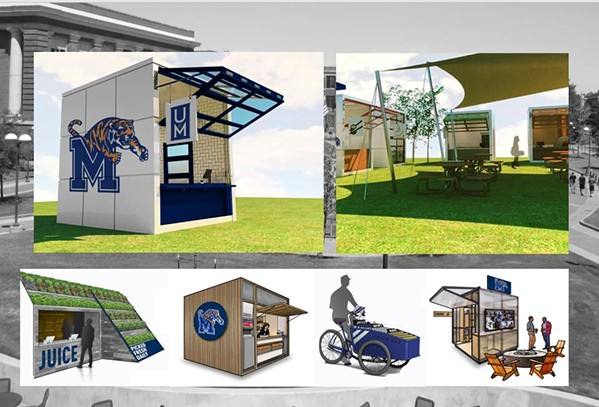 Examples of outdoor pop-up food stations coming to the U of M in the fall - TWITTER- M. DAVID RUDD