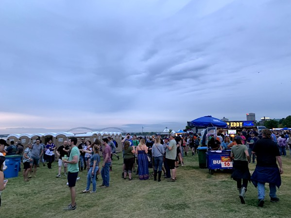 Cloudy skies but perfect temps as BSMF 2019 opens. - LAURA JEAN HOCKING