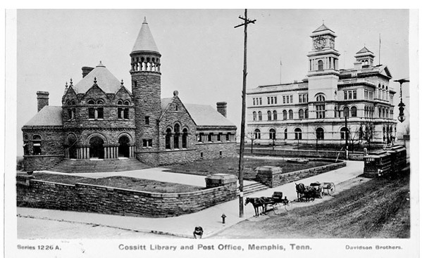 A postcard featuring the Cossitt Library in 1906 - MEMPHIS PUBLIC LIBRARIES
