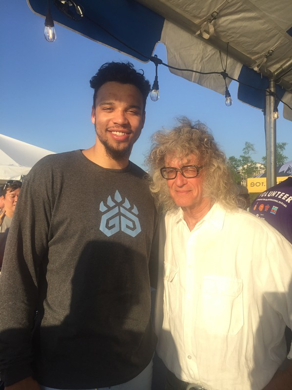 The great Dillon Brooks of the Memphis Grizzlies was at Memphis in May World Championship Barbecue Cooking Contest - MICHAEL DONAHUE