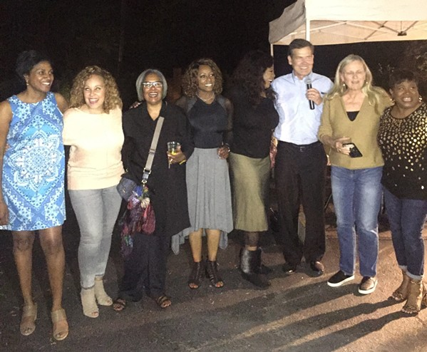 """Joe Birch and some of his """"TV wives."""" - MICHAEL DONAHUE"""