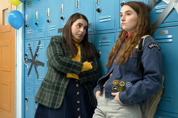 Beanie Felstien as Molly and Kaitlyn Dever as Amy in Booksmart