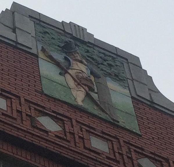 """""""Puck"""" atop 409 South Main - MICHAEL DONAHUE"""