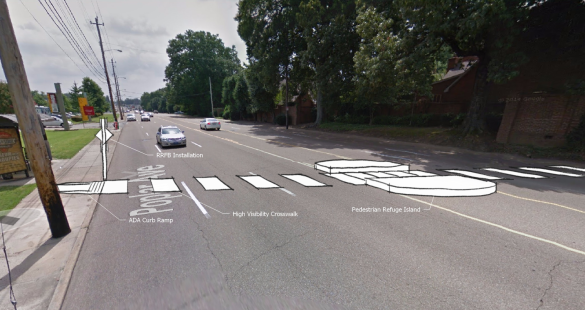 Rendering of new crosswalk