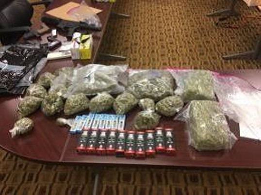 A pile of cash and drugs seized during Operation Non-Believers. - MEMPHIS POLICE DEPARTMENT