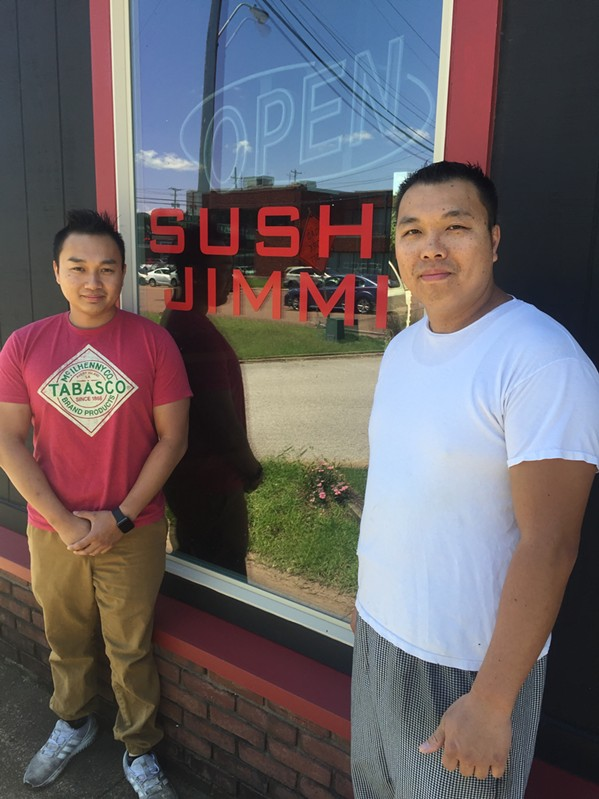 David Sinh and Jimmy Sinh at Sushi Jimmi. - MICHAEL DONAHUE