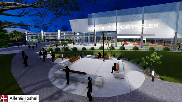 A rendering of the proposed youth sports complex that will front Southern Avenue. - CITY OF MEMPHIS