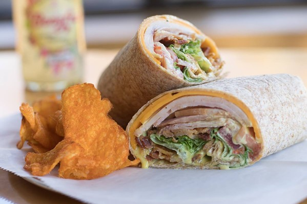 A wrap and chips plate from Cheffie's. - CHEFFIE'S CAFE/FACEBOOK