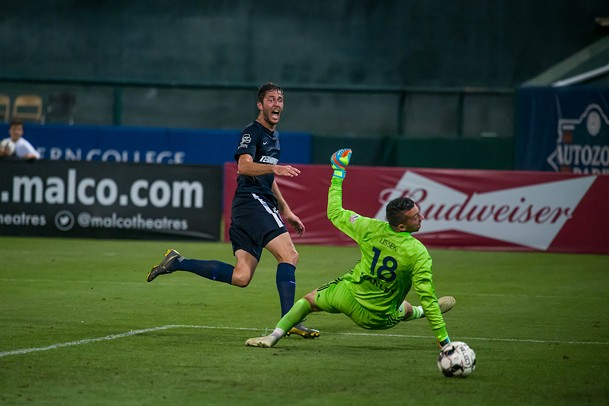 Elliot Collier seals victory with his third goal of the night - 901 FC