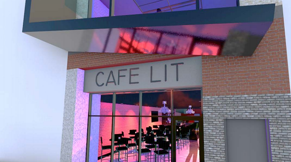 Proposed exterior of Cafe Lit - IDEAL INVESTMENTS LLC