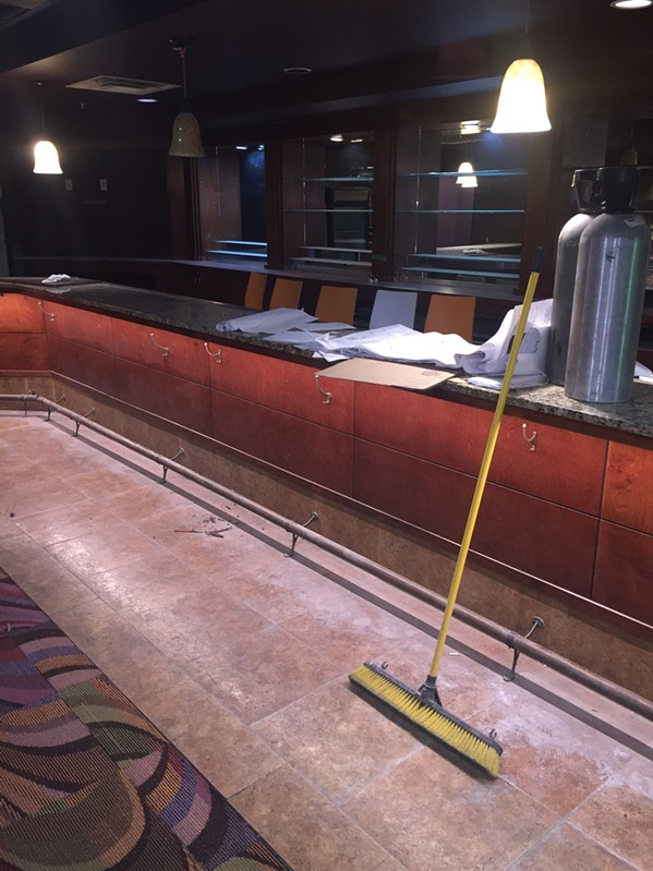 The bar  for the new lounge in the basement of 3rd & Court Diner will be painted gold. - MICHAEL DONAHUE