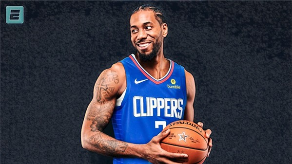 Kawhi Leonard in his new Superman outfit.