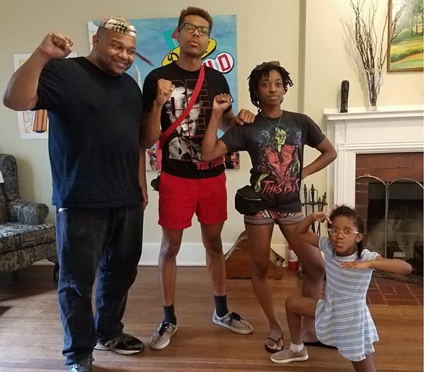 Ronald Herd II, Najee Strickland, Jeanelle 'TBJ' Jones, and her daughter, Sonnet Rose.