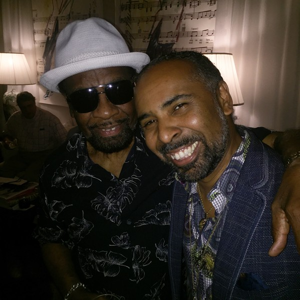 """William Bell and Lawrence """"Boo"""" Mitchell at """"Moonshine at Sunset."""" - MICHAEL DONAHUE"""
