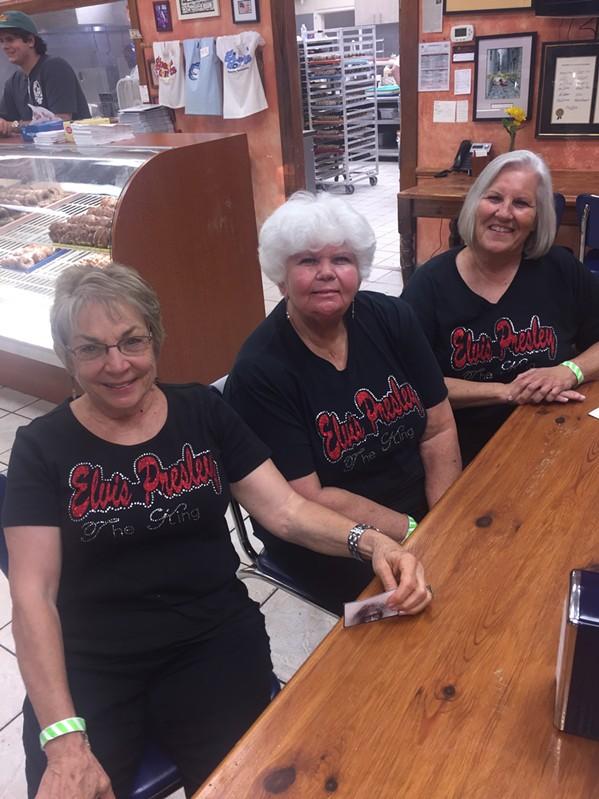 Mary Pat Van Epps. Lydia Cox, and Gina Dear at Gibson's Donuts. - MICHAEL DONAHUE