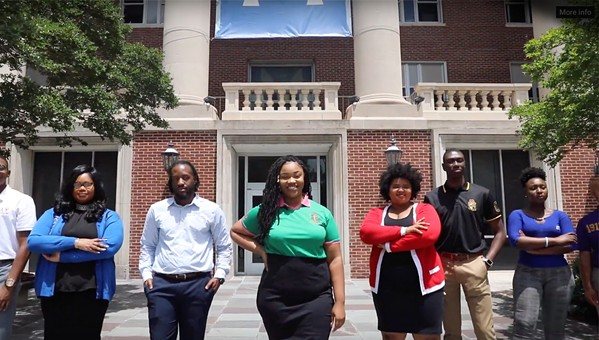 Members of the U of M's National Pan-Hellenic Council executive board - NPHC
