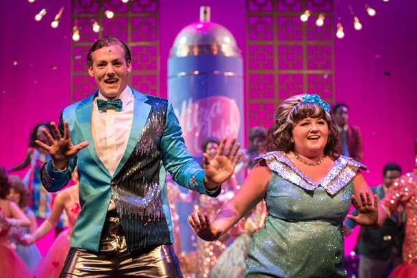Timothy Marsh and Erica Peninger in the Theatre Memphis production of Hairspray, which won four Ossies, including one for Peninger as Best Leading Actress in a Musical. - THEATRE MEMPHIS