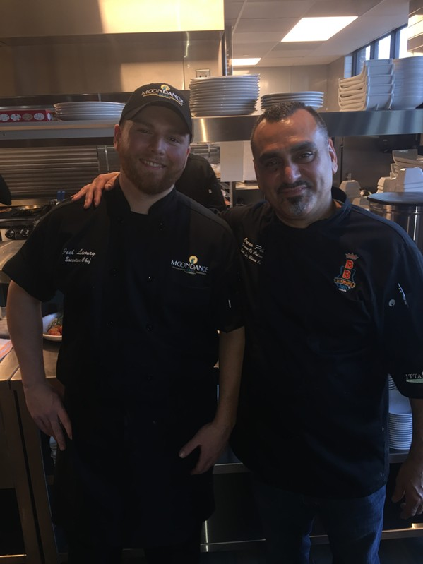 Moondance Grill executive chef Joel LeMay and Beale Street Blues Co. corporate chef Oscar Pena. - MICHAEL DONAHUE