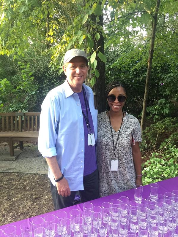 Kevin Sharp and Chantal Drake at Art on the Rocks. - MICHAEL DONAHUE