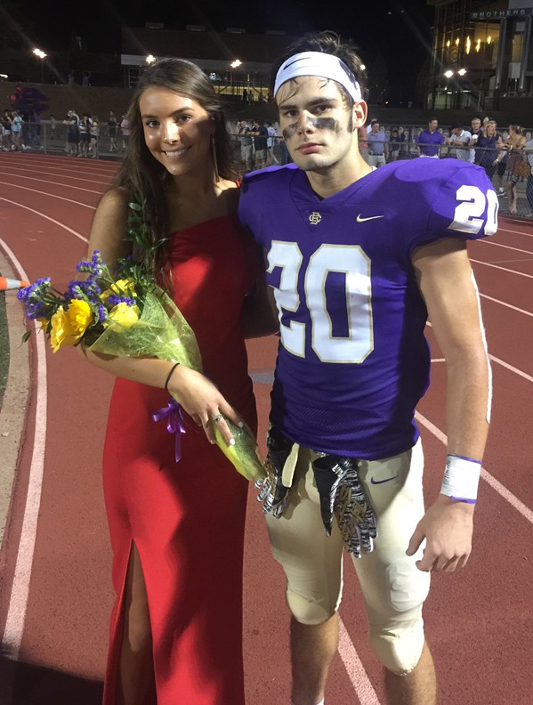 Gracie Hall and Heath Williams at Christian Brothers High School homecoming. - MICHAEL DONAHUE