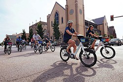 Explore BikeShare rolled out here about a year ago. - EXPLORE BIKE SHARE