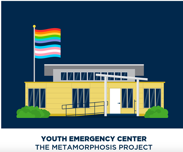 OUTMemphis' proposed youth emergency services and overnight shelter building. - OUTMEMPHIS