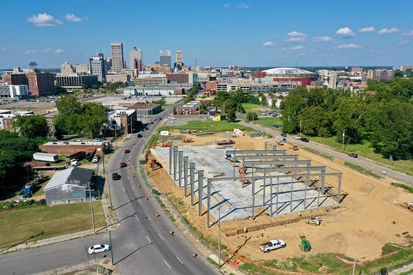 Wiseacre's soon-to-be Downtown location rises from the ground along B.B. King. - WISEACRE BREWING CO.