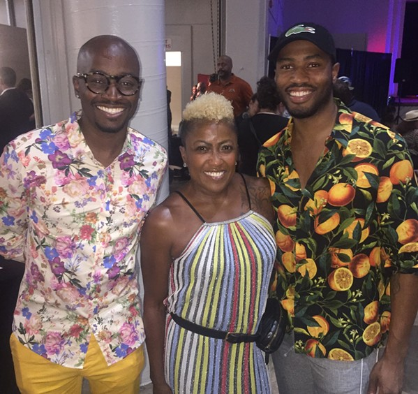 Cory Hollywood, Paula Raiford, and Zareon Anthony at the Best of Memphis party, which was held Sept. 25th at the Creative Arts Building at the Fairgrounds. - MICHAEL DONAHUE