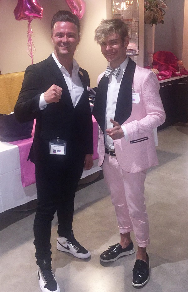 "Dustin Starr and Logan Guleff from ""Real Men Wear Pink."" - MICHAEL DONAHUE"