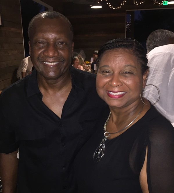 Calvin and Belinda Anderson at Vintage901 Underground: Low Country Boil - MICHAEL DONAHUE