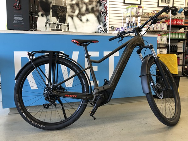 A Scott e-bike available for demo at Victory