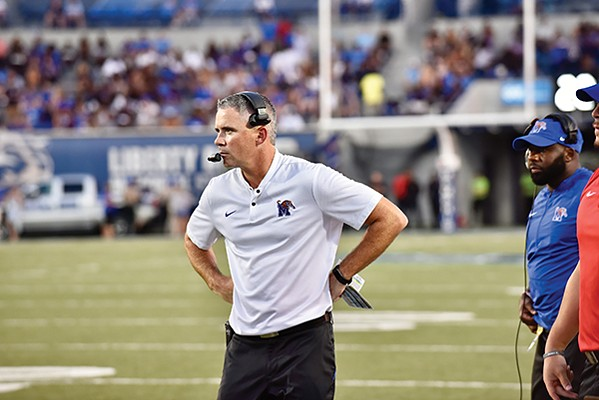 """After the game, Tigers Coach Mike Norvell said the disputed pass to Joey Magnifico """"was a catch."""" - PHOTOGRAPHS BY LARRY KUZNIEWSKI"""