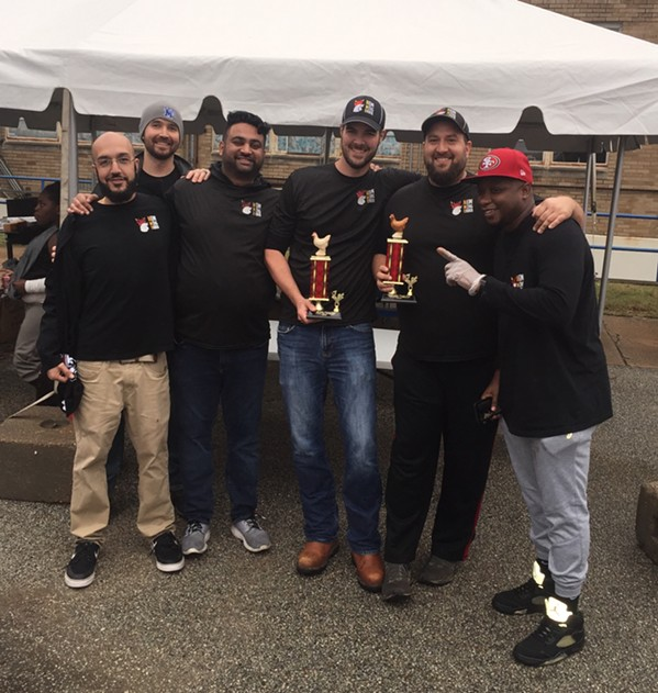 New Wing 0rder took first place honors at the Bluff City Hotwing Fest, held October 26th at Compass Midtown. Wingy Dingy came in second and TBD-Q was second. Angela Fox was event chairperson for the Compass Community Schools fundraiser and community awareness event. - MICHAEL DONAHUE