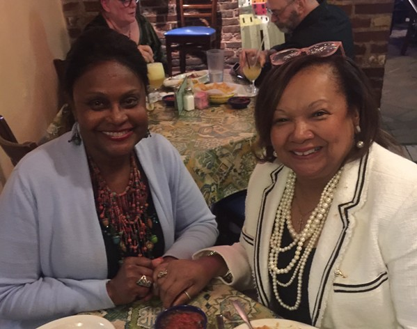 June James and Myra Whitney at Molly's La Casita. - MICHAEL DONAHUE