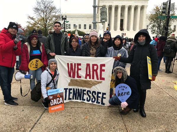 Tennessee DACA recipients rally in front of U.S. Supreme Court - FACEBOOK/TIRRC