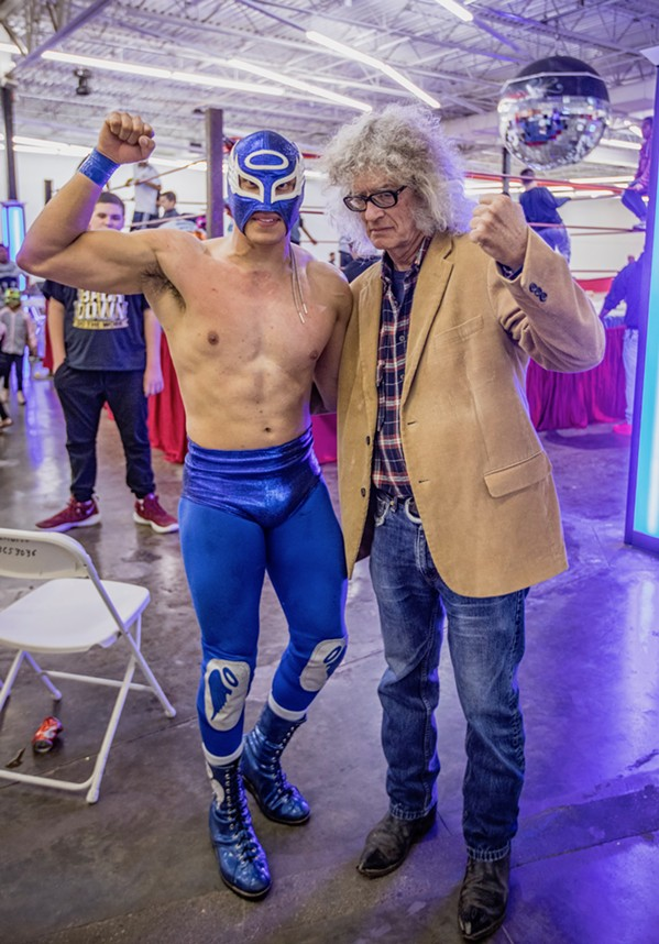If Blue Angel and I really had just wrestled at the recent La Luche Libra event, they'd still be untangling me from the ring's ropes. - MICHAEL DONAHUE