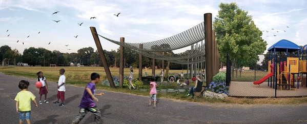 Rendering of Treadwell Natural Playground - IOBY