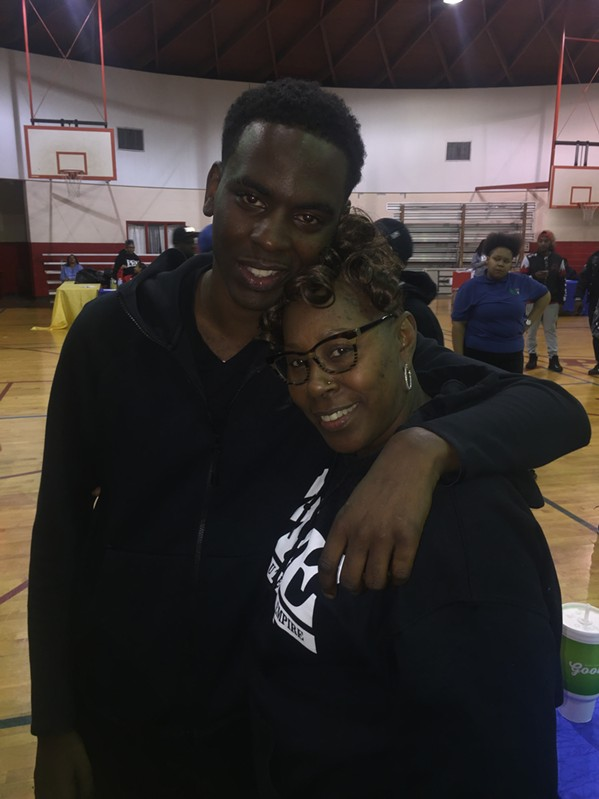 Young Dolph and his aunt, Rita Myers.