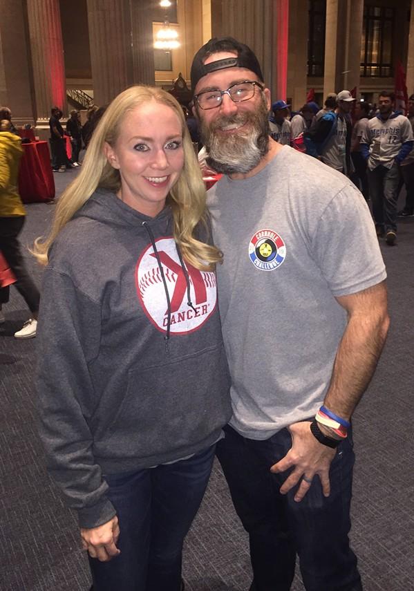 Caitlin and Jason Motte at Memphis Cornhole Challenge. - MICHAEL DONAHUE