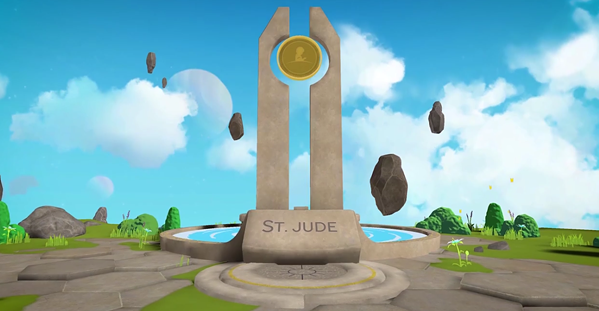 Screenshot of VR experience - ST. JUDE