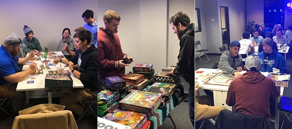 Gamers at a recent Board to Beers promo night - BOARD TO BEERS