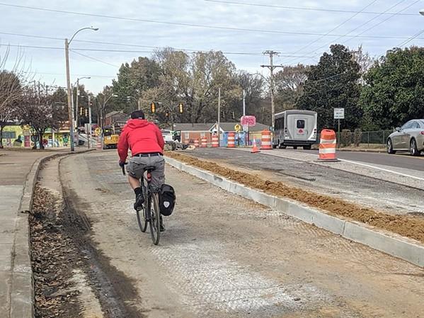 The Hampline in Binghampton is nearing completion. - FACEBOOK/BIKE PED MEMPHIS