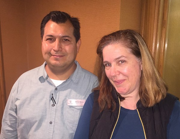 Helario Reyna and Jenny Maddon at Calvary Episcopal Church. - MICHAEL DONAHUE