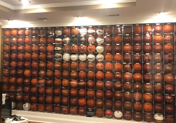 Brian Rhoads autographed baskeball collection.