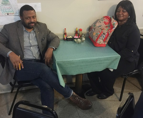 James Alexander and Alice Henry, founders of Kaleidoscope School of Memphis, at the Little Tea Shop. - MICHAEL DONAHUE